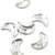 Swarovski® Moon Flat Back - Clear Crystal - 8x5.5mm - 6pcs