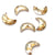 Swarovski® Moon Flat Back - Golden Shadow - 8x5.5mm - 6pcs