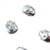 Swarovski® Skull Flat Back - Light Chrome - 10x7.5mm - 3pcs