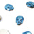 Swarovski® Skull Flat Back - Metallic Blue - 10x7.5mm - 3pcs