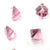 Swarovski® Cube - Light Rose & Comet Argent Light