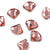 Swarovski® Fan Flat Back - Rose Peach - 6mm - 8pcs