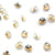 Swarovski® Chaton Pointed Back - Golden Shadow - 4mm - 24pcs