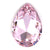 Swarovski Large Pear Pointed Back - Rosaline - 30x20mm