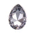 Swarovski Large Pear Pointed Back - Smoky Mauve - 30x20mm