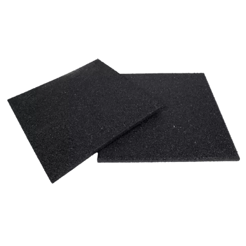 Black 15mm Rubber Gym Flooring Mats