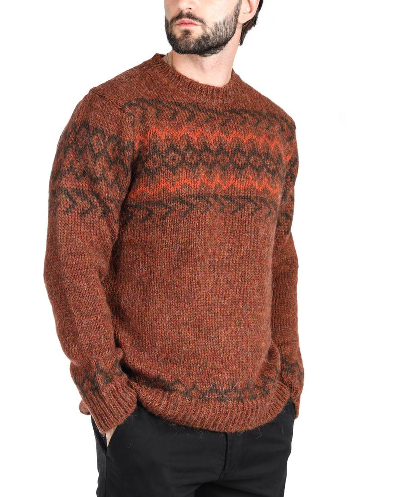POWELL - MAGLIONE BORDEAUX IN ALPACA