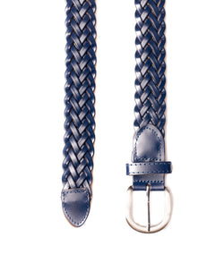 BELT IN BLUE BRAIDED LEATHER