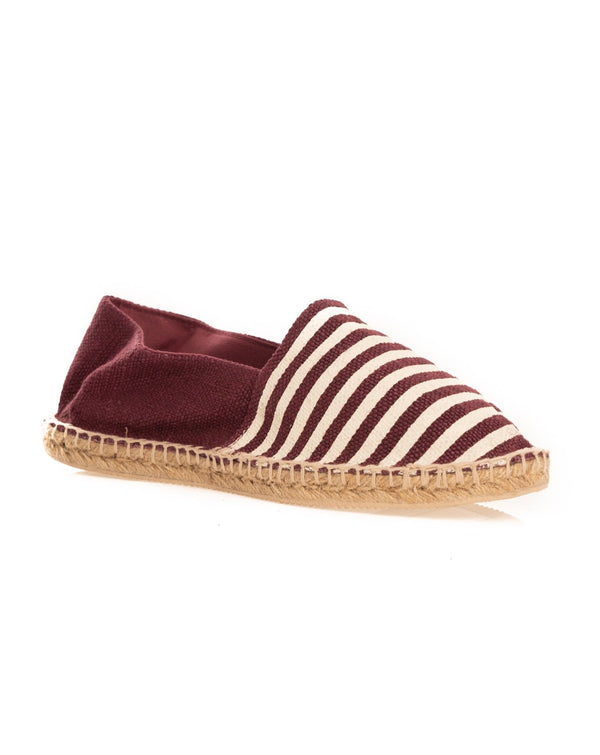 ESPADRILLAS A RIGHE BORDEAUX