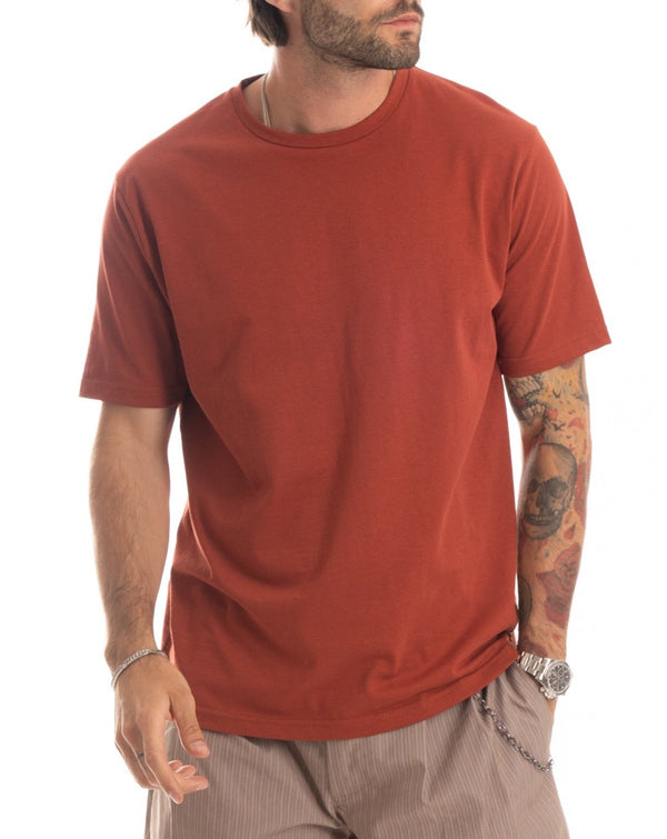 TEE - T-SHIRT RUGINE BASIC IN COTONE