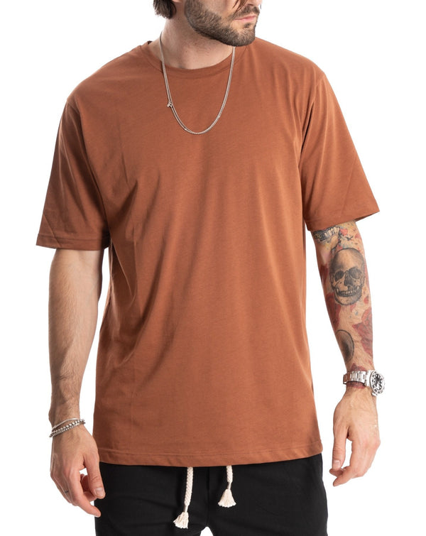TEE - T-SHIRT MATTONE BASIC IN COTONE