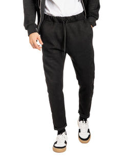 MICHAEL - BLACK SUEDE SWEATPANTS