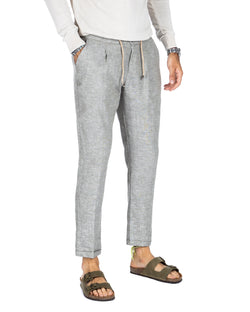 Teo - Green linen trousers