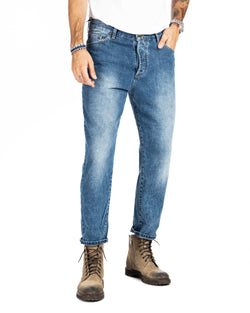 CLIFF - DUNKLE WASH JEANS