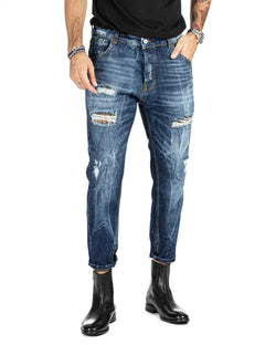 MONTANA - DUNKLE JEANS MIT BRUCH