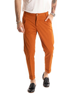 CAPRI - BASIC RUST SLIM TROUSERS