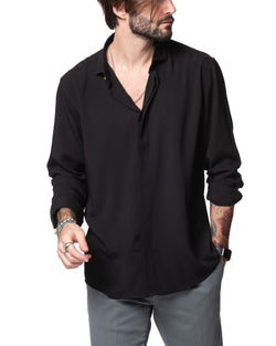CLARK - BLACK VISCOSE SHIRT