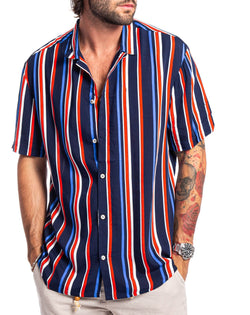 Skiathos stripes cotton shirt - Camicie - SaveOne