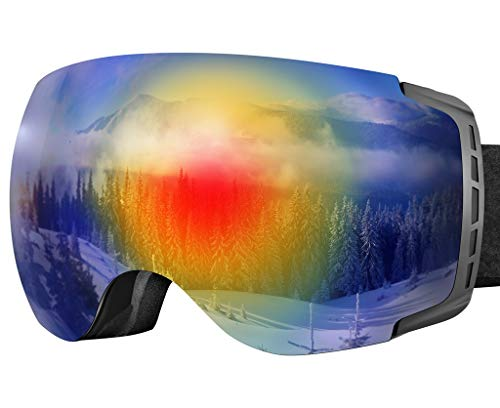 20d48888286d HiALToday Ski Goggles Anti Fog OTG Snowboard Goggles UV Protection Men  Women Frameless Black Double Lens
