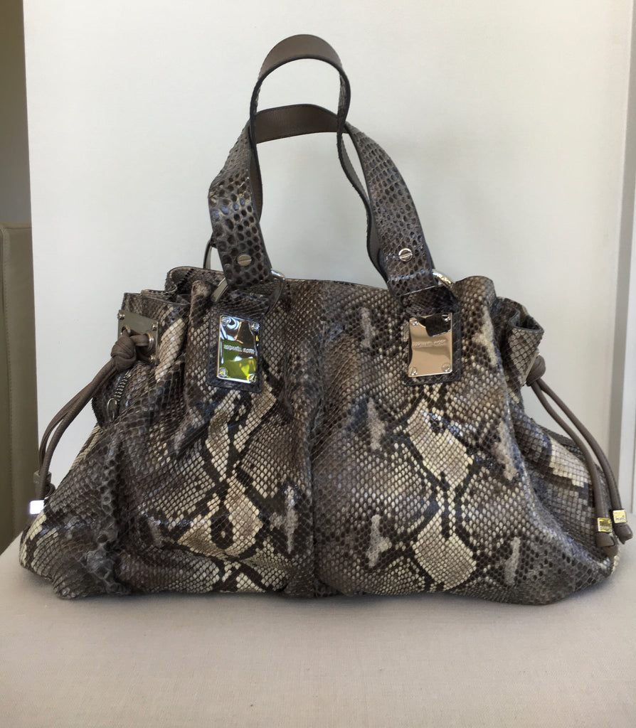 Michael Kors Leather Snakeskin Bag