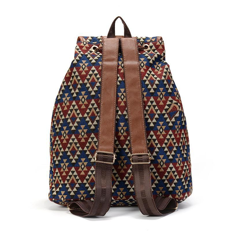 a99dece210228 Squared Aztec Patterned Vintage Backpack - Buy Vintage Boho bags with  bohemian style patterns – NeoPrints