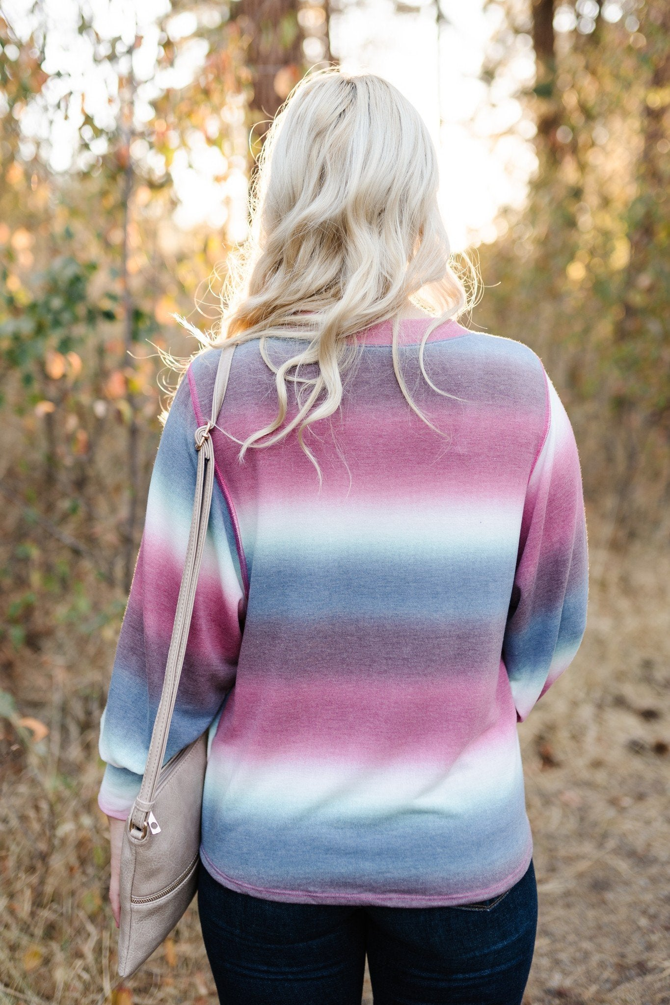 Caught Up In You Striped Ombre' Top