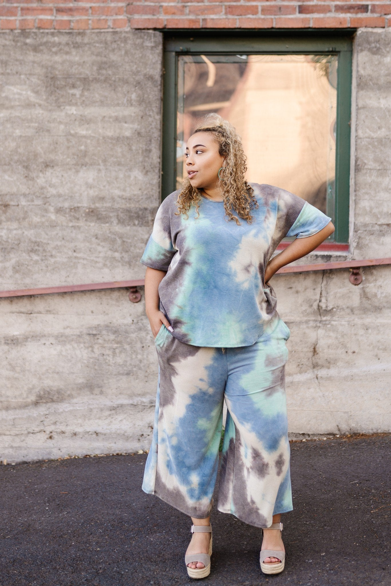 Arctic Waters Tie Dye Top