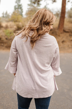 Sweetness And Light Top In Soft Lavender