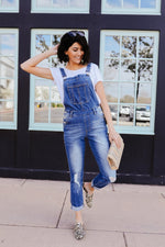 Under Siege Overalls In Medium Wash