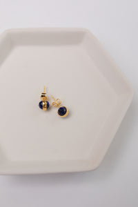 Blue Orb Earrings