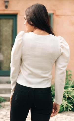 Very Pretty Top in Ivory