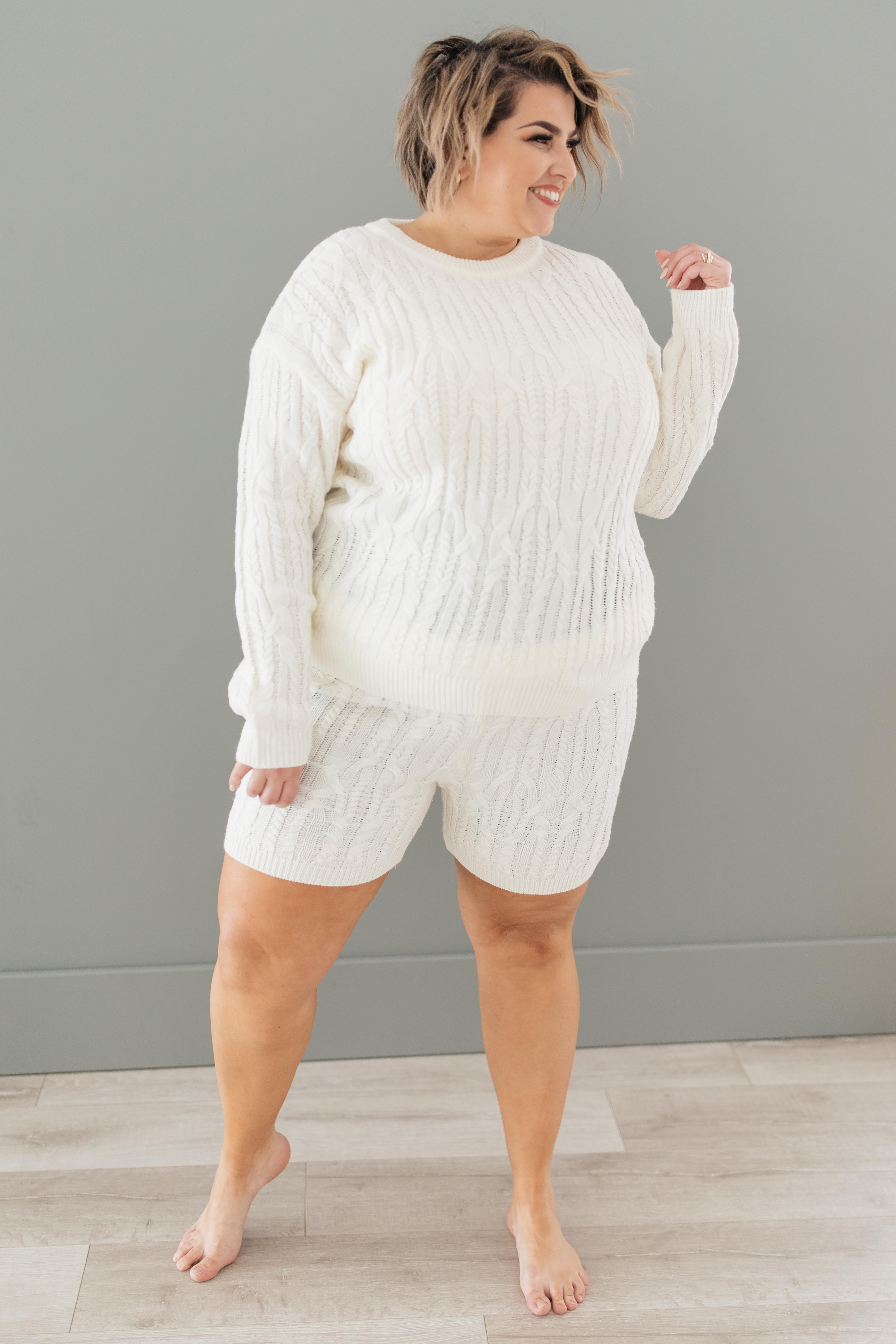 Annie Knit Bottoms in Cream