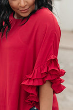 Be Mine Ruffle Sleeve Top
