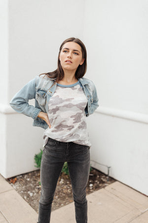 Camouflage Blues Top