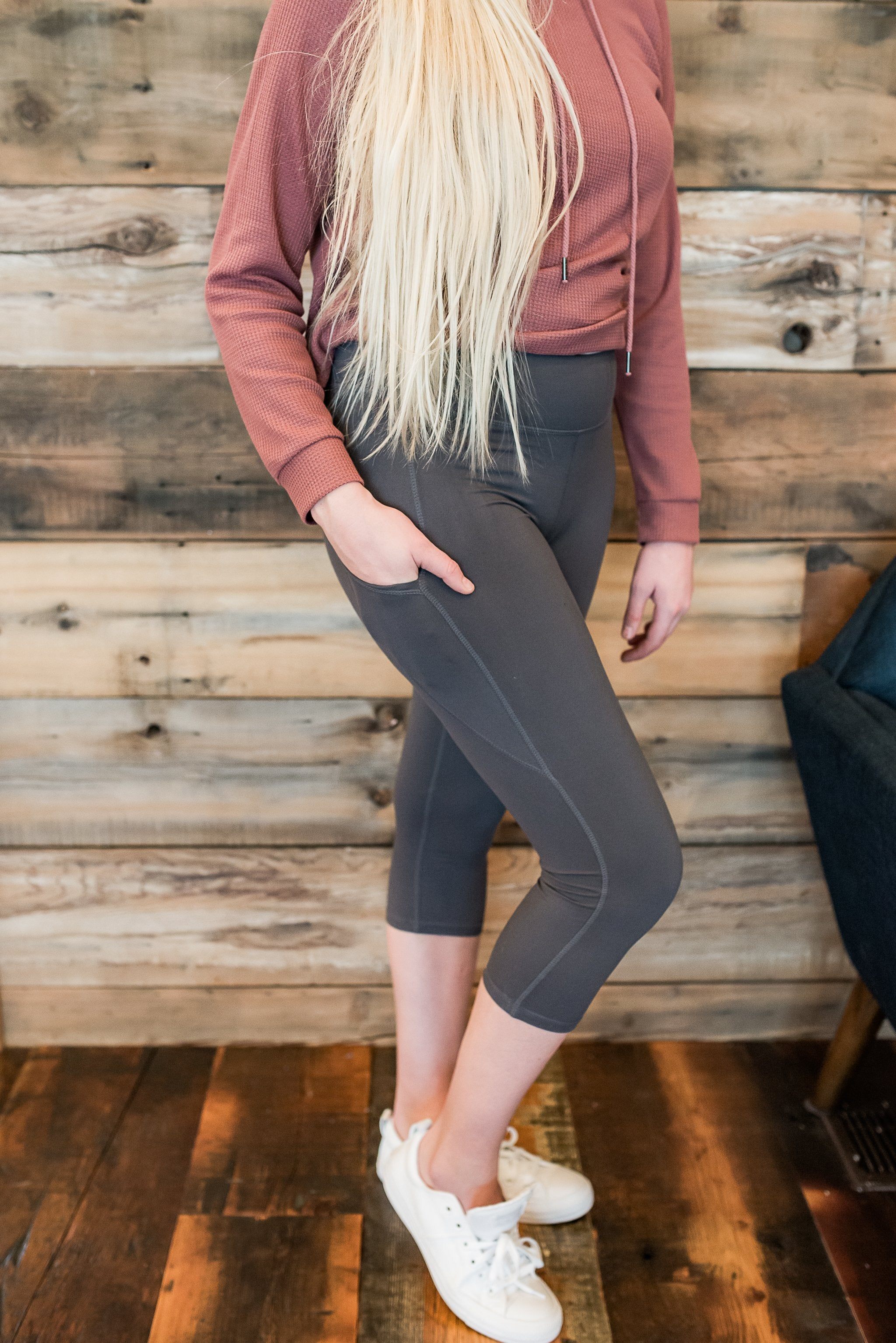Train with Me Capri Charcoal Leggings