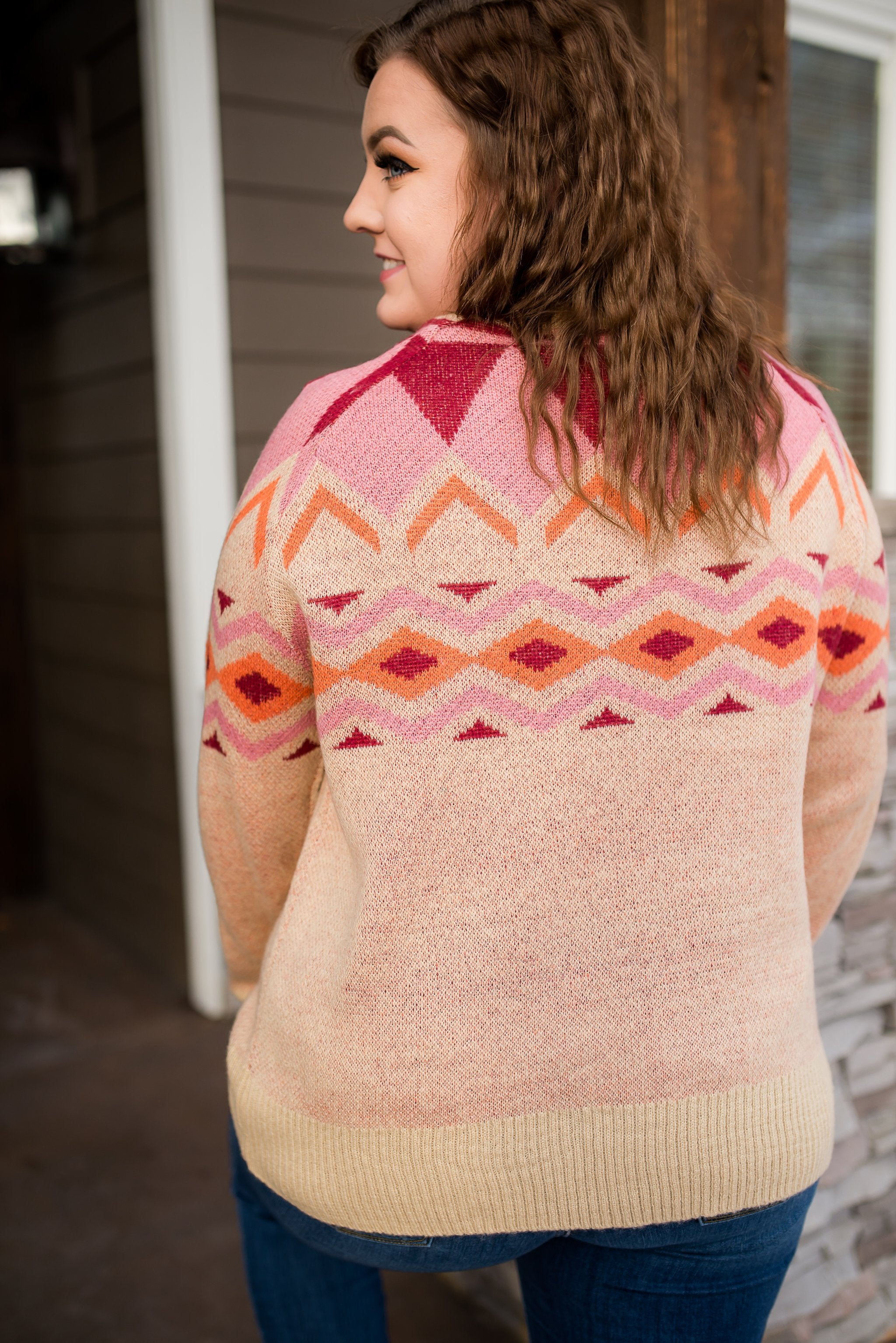 Playing To Win Sweater In Autumn Tones