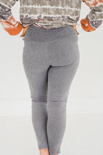 Fleece Be With You Yoga Pants In Heathered Gray