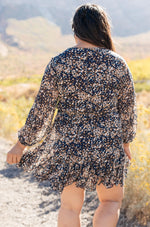 Fancy Me Floral Dress in Navy