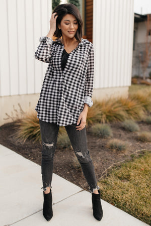 Gingham Girl Button Down Top