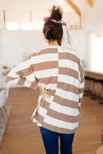 Horizontal Lines Top in Taupe