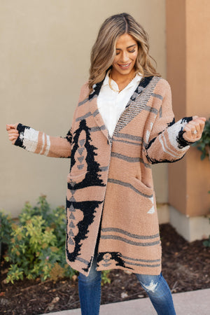 The Amanda Patterned Cardigan