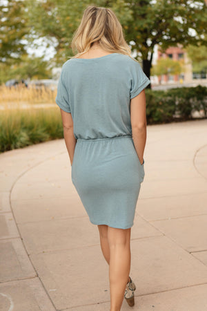 The Day Out Dress in Dusty Blue