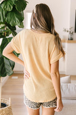 The Morning Bird Top in Pastel Yellow