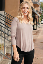 The Wendi Top in Ash