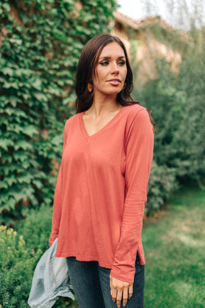 Tiffany Top in Rust