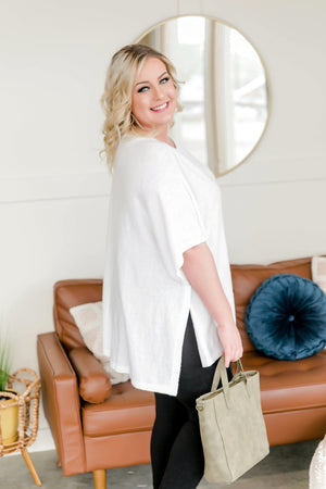 Go With The Flow Tunic Top In White