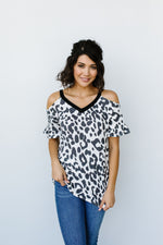 To The Moon Cold Shoulder Top