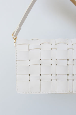 Woven Vegan Leather Clutch
