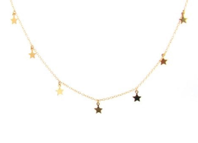 DAISY SEVEN GOLD STARS NECKLACE