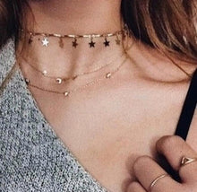 Load image into Gallery viewer, BAMBI GOLD STARS CHOKER